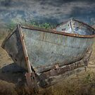 Old Historical Fishing Boat on shore by Randall Nyhof