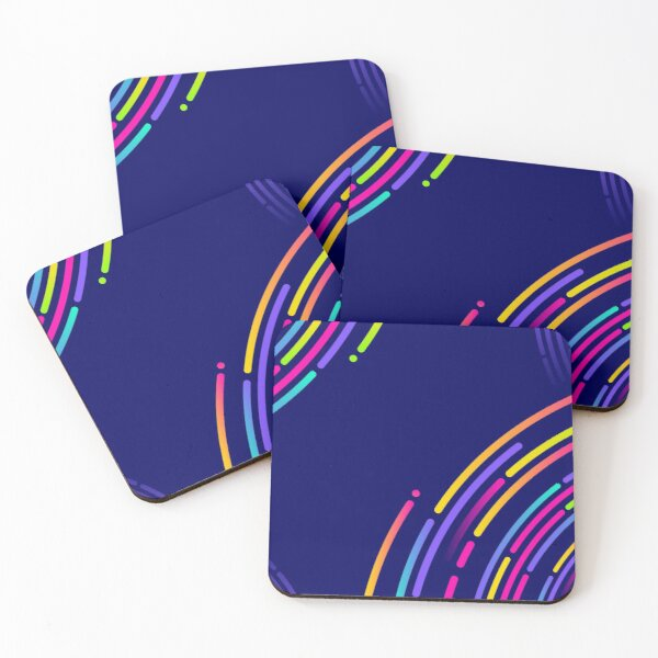 Colorful Circles Coasters (Set of 4)