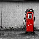 Red Vintage Gasoline Pump by Randall Nyhof