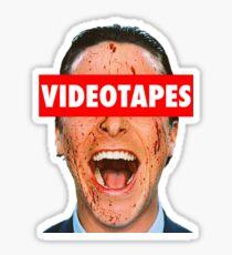 Videotapes American Psycho Sticker