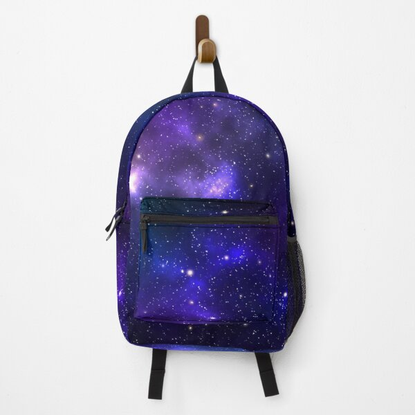 Blue and violet galaxy with stars Backpack