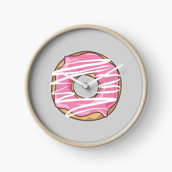 Pink Drizzle Donut Clock