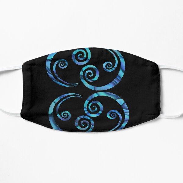 Double koru paua Flat Mask
