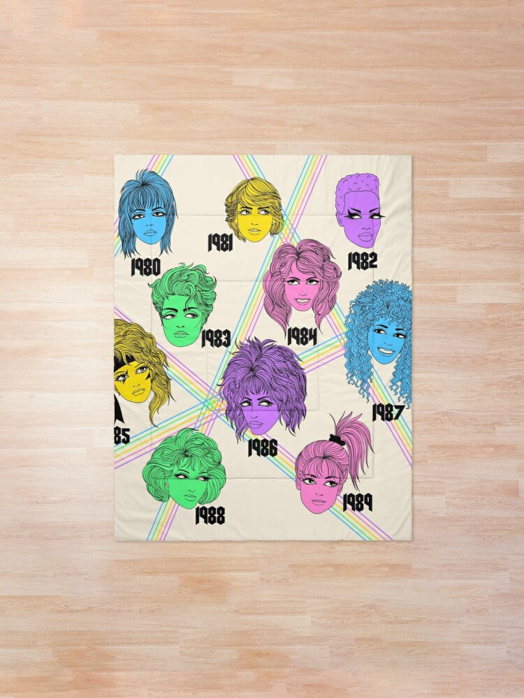 Alternate view of 1980s Hairstyles  Comforter