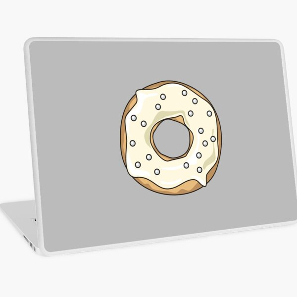 Vanilla Pearl Donut Laptop Skin