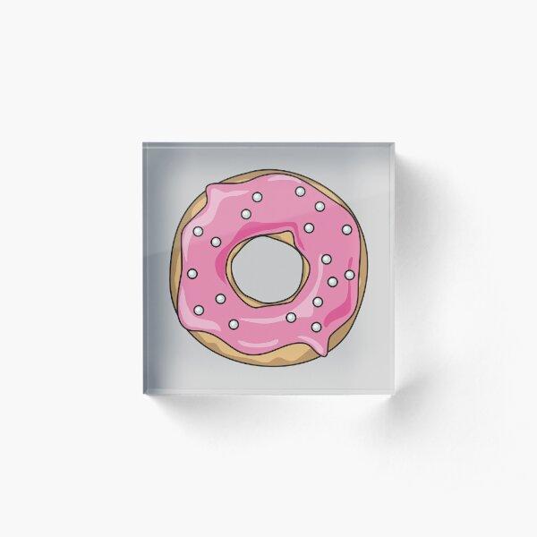 Pink Pearl Donut Acrylic Block