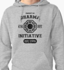 Dharma Initiative athletic department (Black ver.) Pullover Hoodie