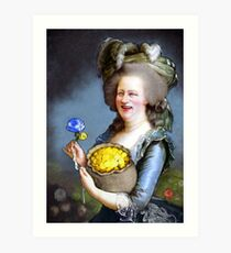 Allegory : David Cameron as Madame Déficit Art Print