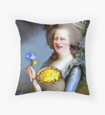 Allegory : David Cameron as Madame Déficit Throw Pillow
