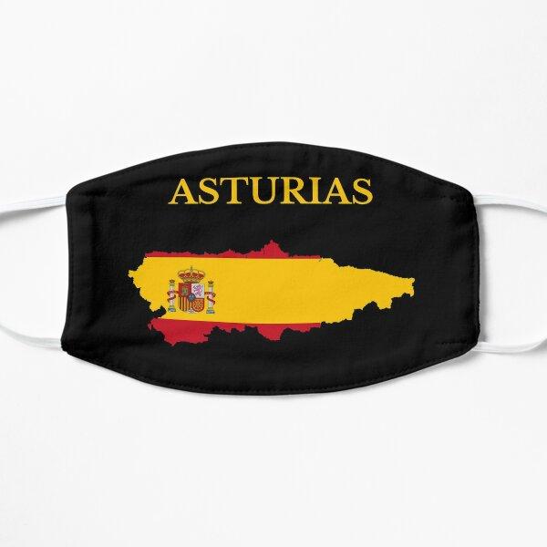 Mapa de la Comunidad de Asturias, España Mascarilla plana