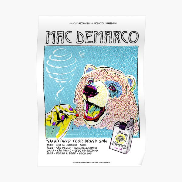 Mac Demarco tour Poster Poster