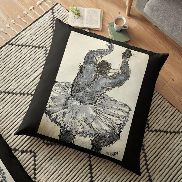 Dancing Minotaur in a Tutu Floor Pillow