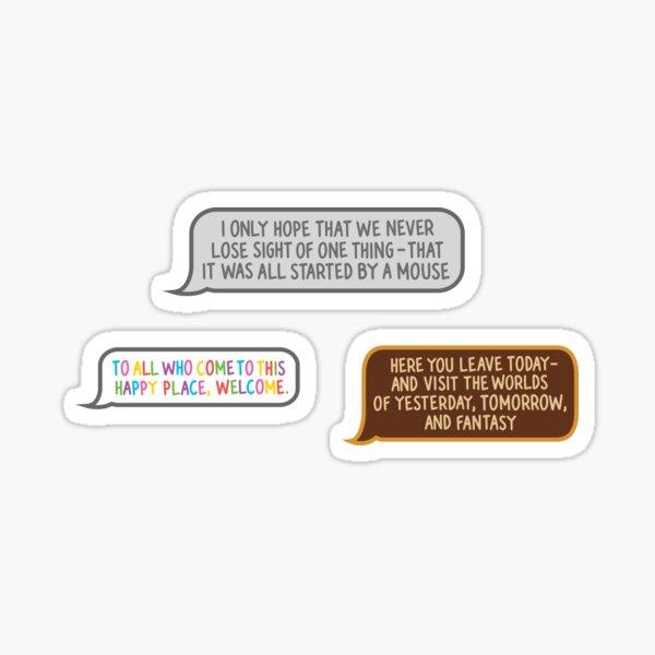 Original Park Quotes Sticker