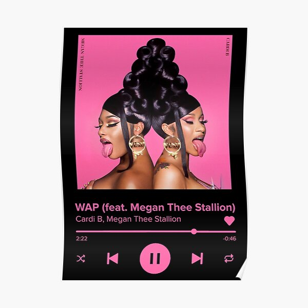 WAP || CARDI B & MEGAN THEE STALLION || ALL BLACK || Poster