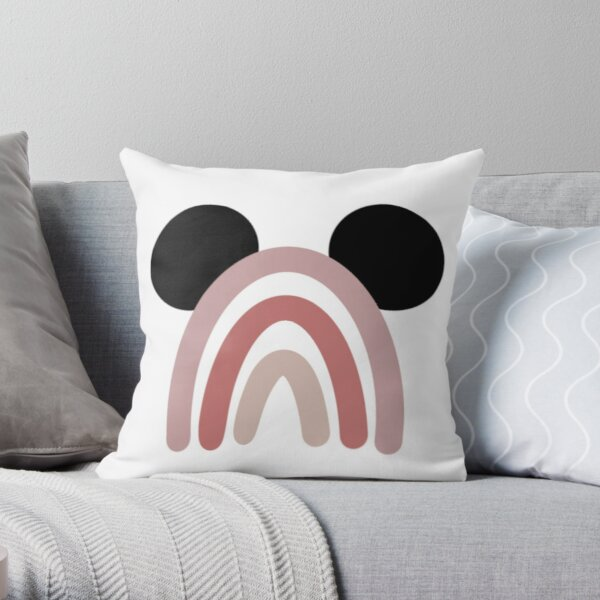 Mickey Rainbow Throw Pillow