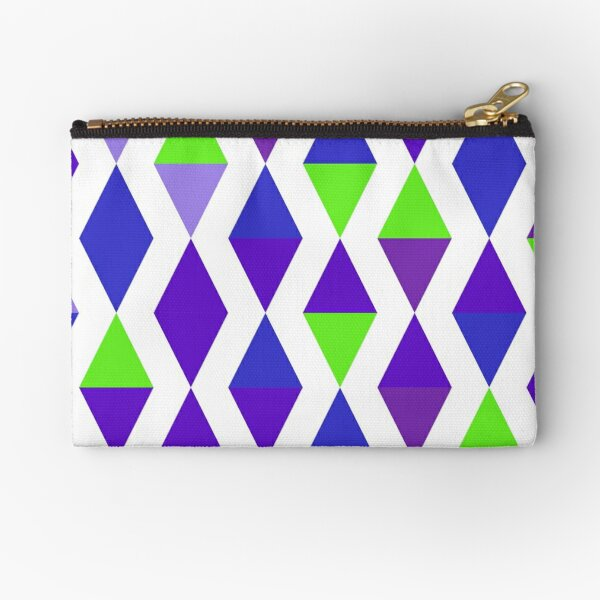 Versed Maple (purples and greens) Zipper Pouch