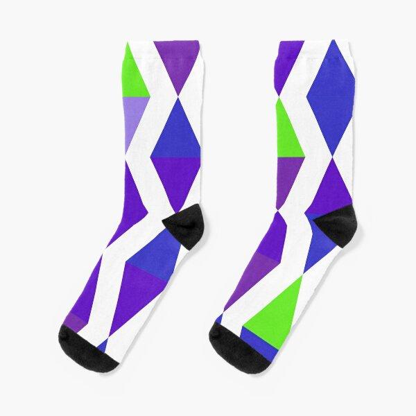 Versed Maple (purples and greens) Socks