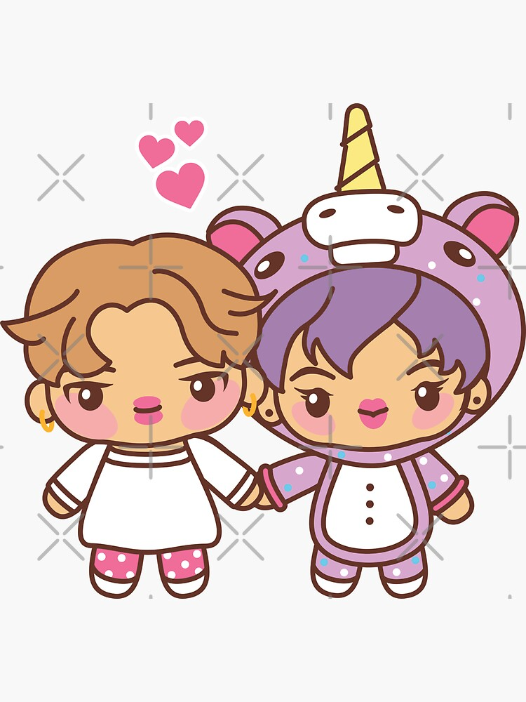 Jinmin Pajama Party - BTS Hobi and Jin in PJ's ~BTS Pajama Party~ by MikaBees