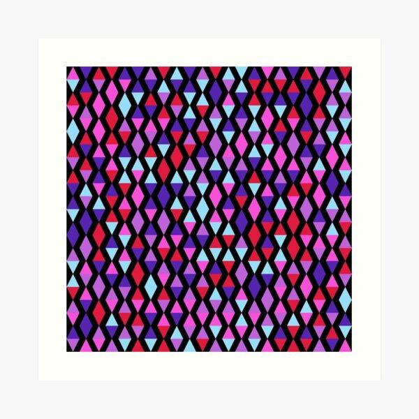 Versed Maple (pinks, purples and blues) Art Print