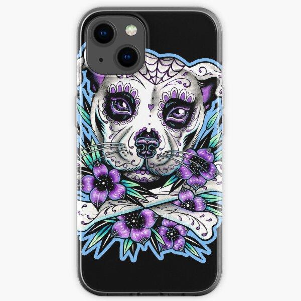 Sugar Skull Pit Bull iPhone Soft Case