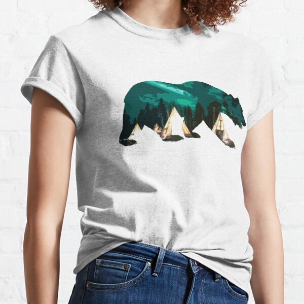 Bear with Northern Lights / The Northen Ligths Classic T-Shirt