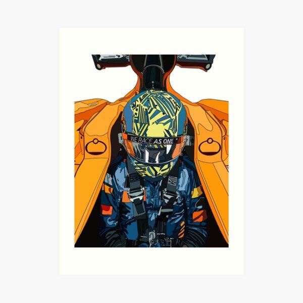 Lando Norris papaya Art Print