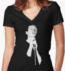 Ian Curtis Women's Fitted V-Neck T-Shirt