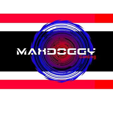 Maxdoggy Gaming - Black Outline by Maxdoggy