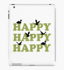 Green Digital Camo Happy Happy Happy iPad Case/Skin