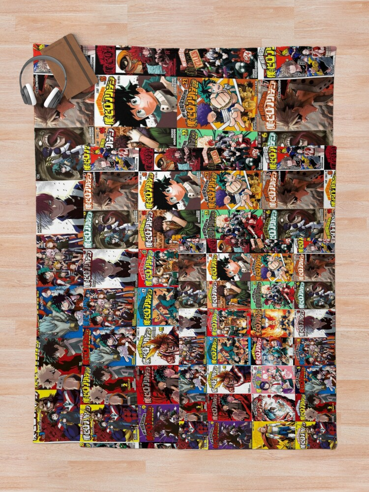 Alternate view of My hero academia Cover Collage Throw Blanket