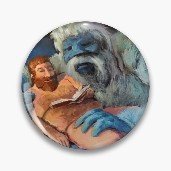 Yukon and Bumble in Bed, Reading Pin