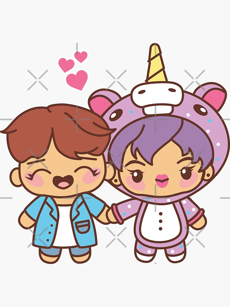2SEOK Pajama Party - BTS Hobi and Jin in PJ's ~BTS Pajama Party~ by MikaBees