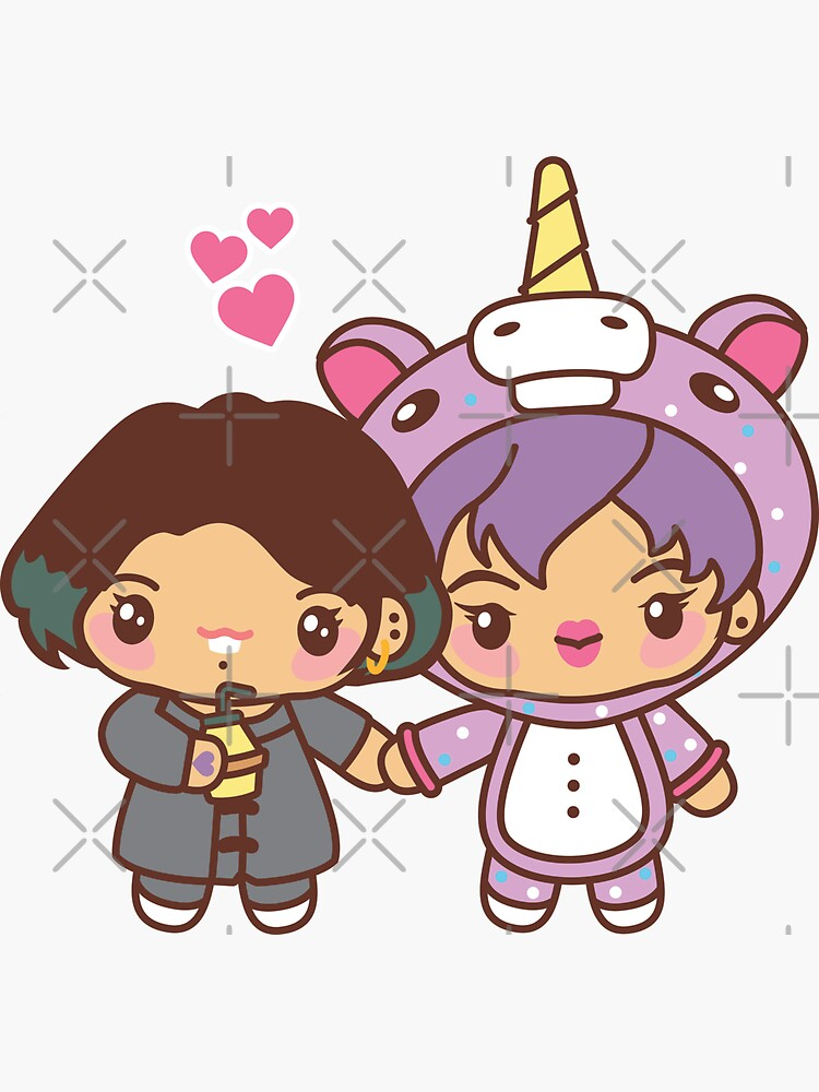 Jinkook / Kookjin Pajama Party - BTS Jungkook and Jin in PJ's ~BTS Pajama Party~ by MikaBees