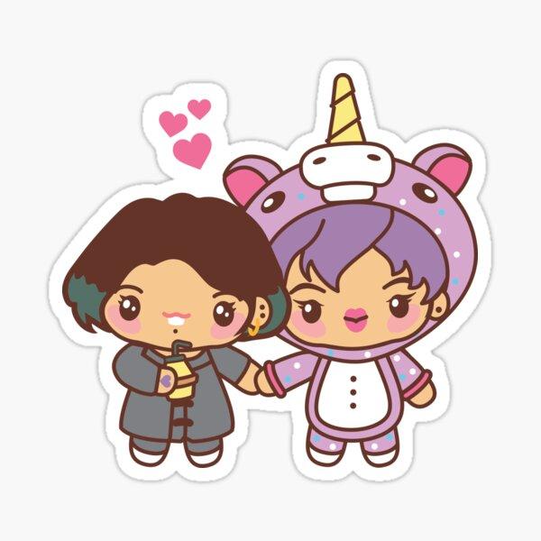 Jinkook / Kookjin Pajama Party - BTS Jungkook and Jin in PJ's ~BTS Pajama Party~ Sticker