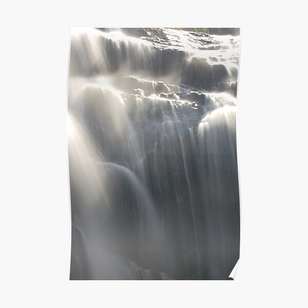 Softly Flowing at MacKenzie Falls by Lorraine McCarthy Poster
