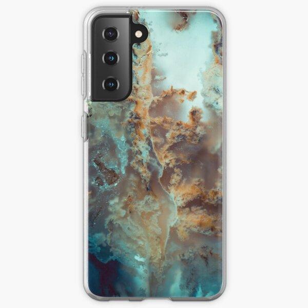 Close up macro agate rock photography gemstone Samsung Galaxy Soft Case