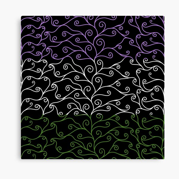 Swirls and Silk - Genderqueer Flag Canvas Print