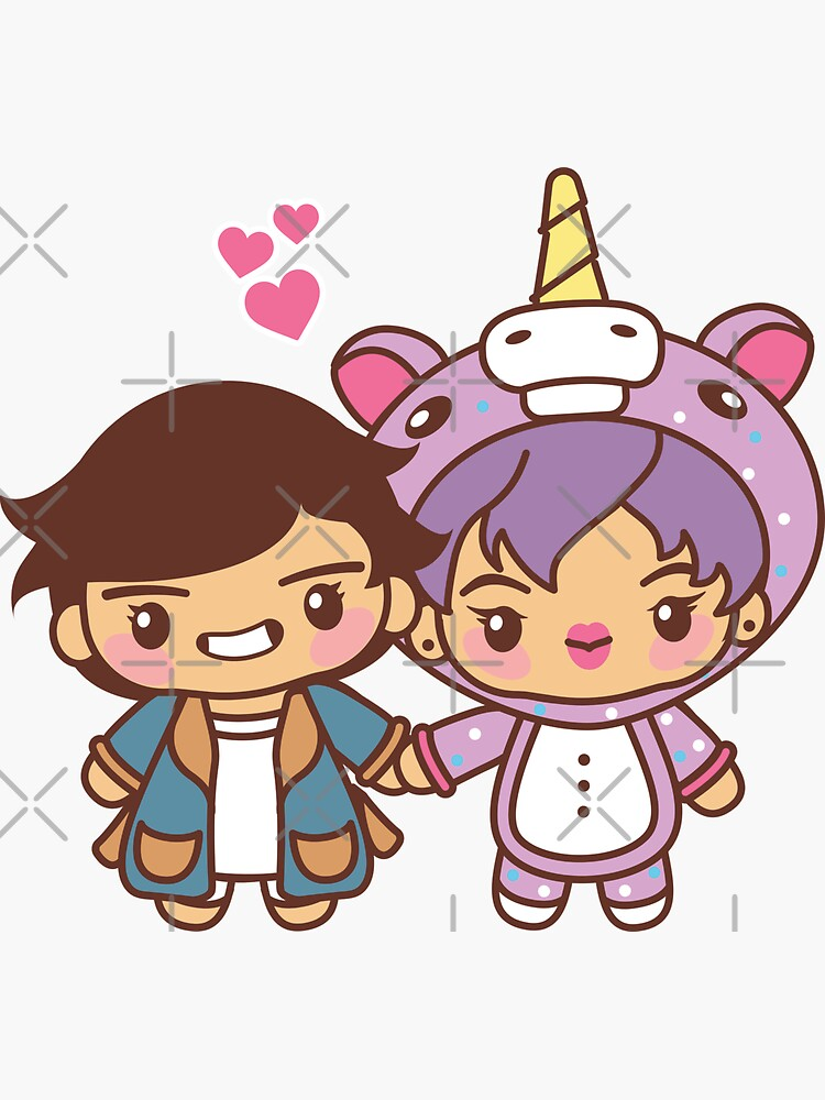 Taejin Pajama Party - BTS Taehyung and Jin in PJ's ~BTS Pajama Party~ by MikaBees