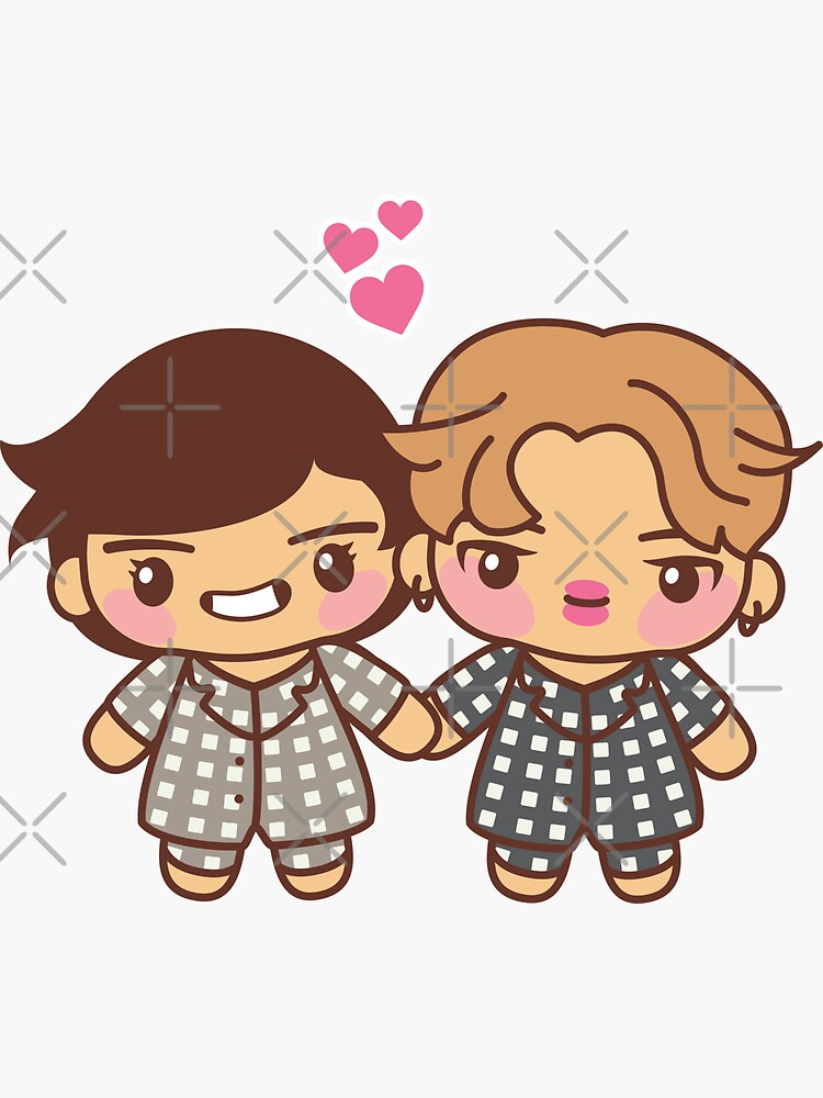 VMIN Pajama Party - BTS Taehyung and Jimin in PJ's  ~BTS Pajama Party~ by MikaBees