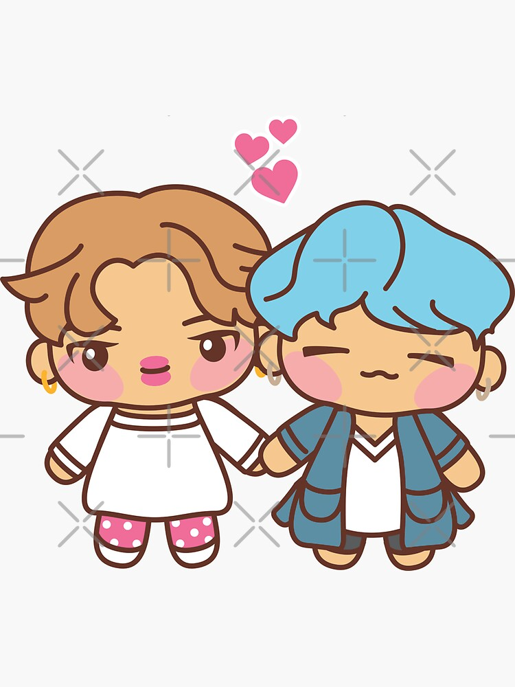 Yoonmin Pajama Party - BTS Yoongi and Jimin in PJ's ~BTS Pajama Party~ by MikaBees