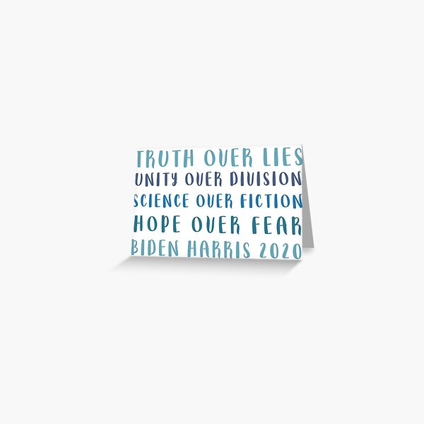Truth Over Lies Greeting Card