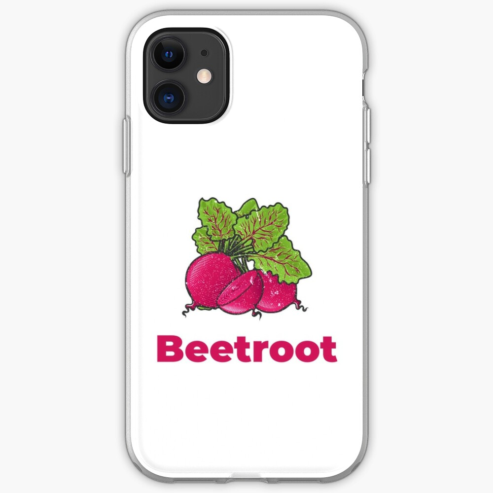 Beetroot Vegetable with Name iPhone Case & Cover