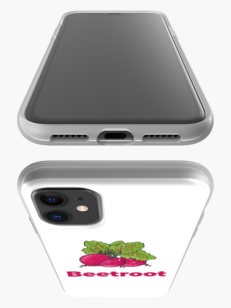 Alternate view of Beetroot Vegetable with Name iPhone Case & Cover