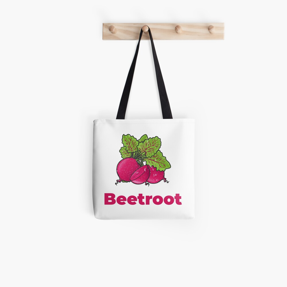Beetroot Vegetable with Name Tote Bag