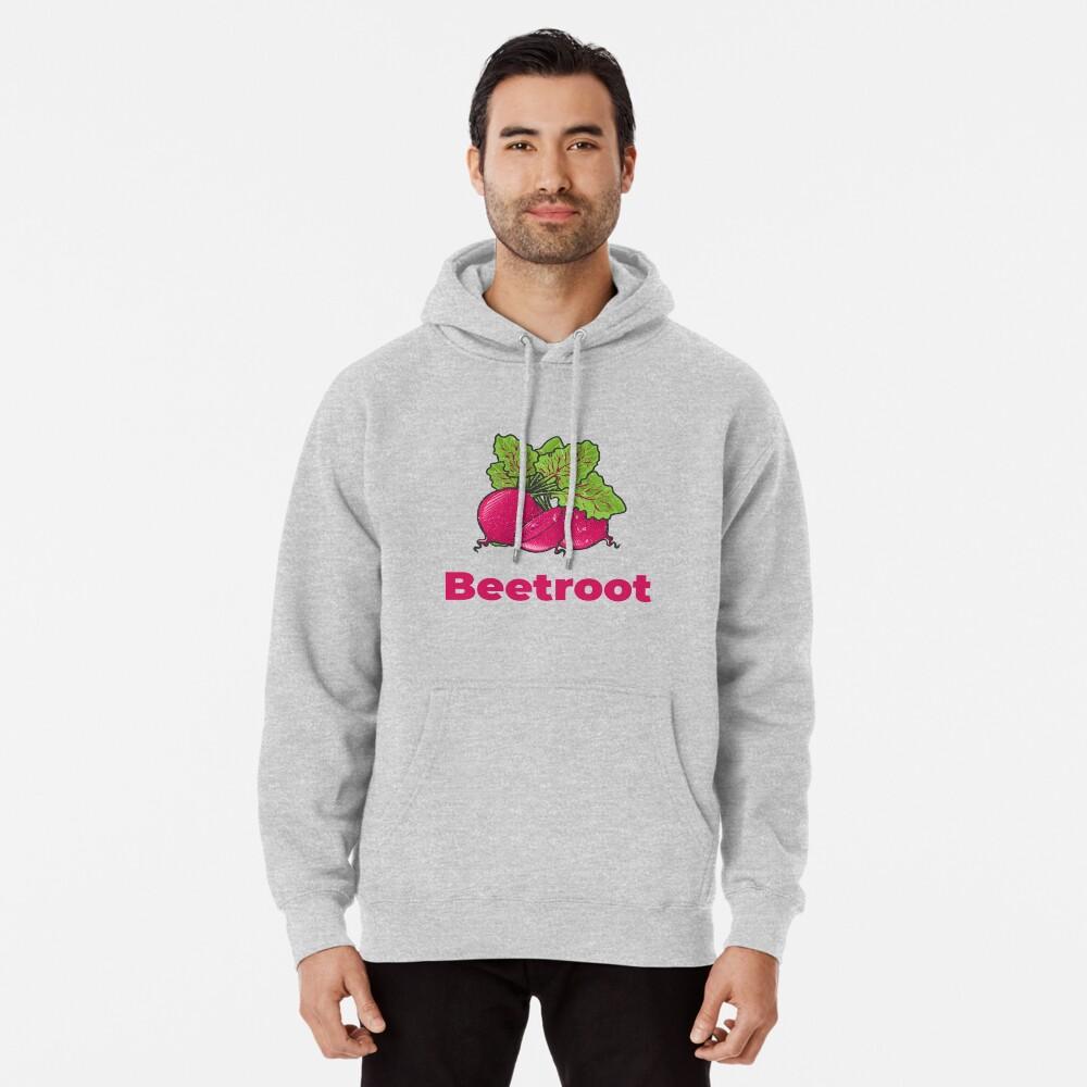 Beetroot Vegetable with Name Pullover Hoodie