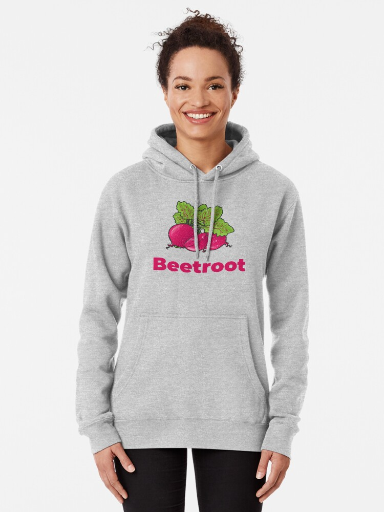 Alternate view of Beetroot Vegetable with Name Pullover Hoodie