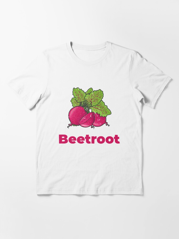 Alternate view of Beetroot Vegetable with Name Essential T-Shirt