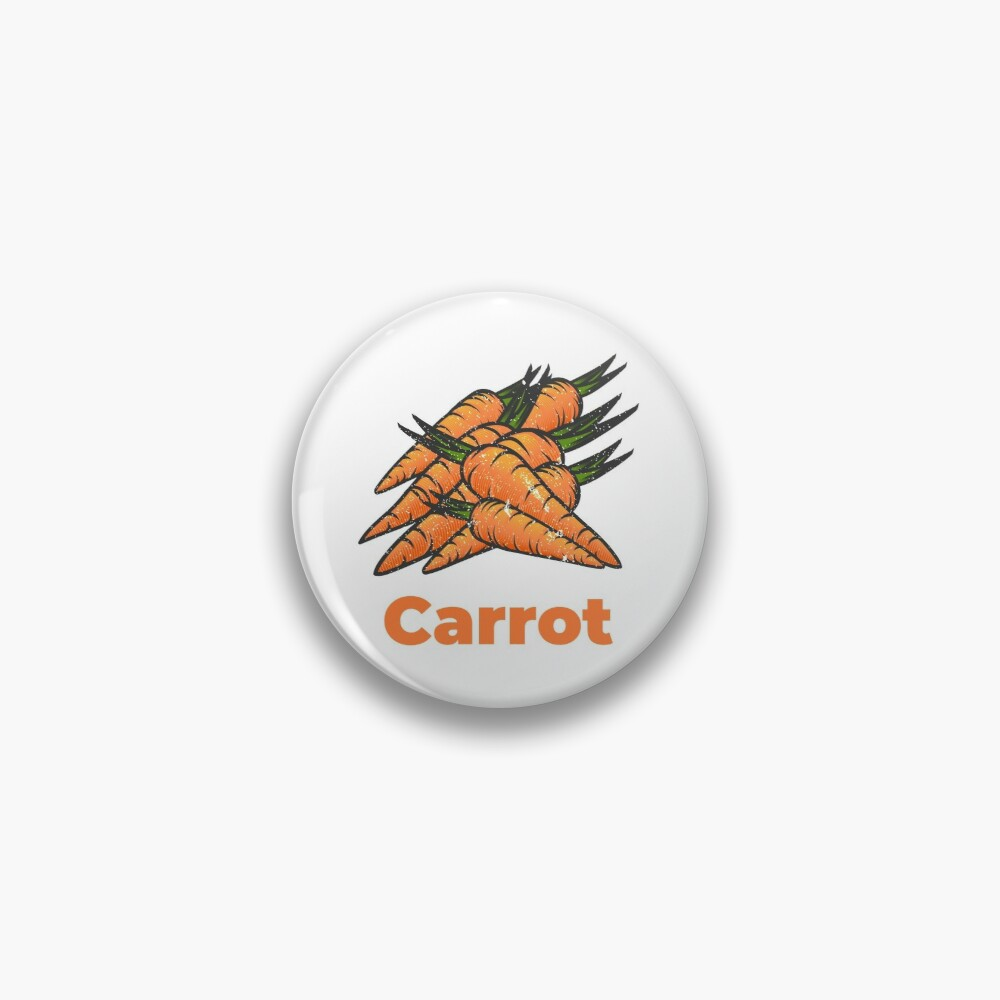 Carrot Vegetable with Name Pin