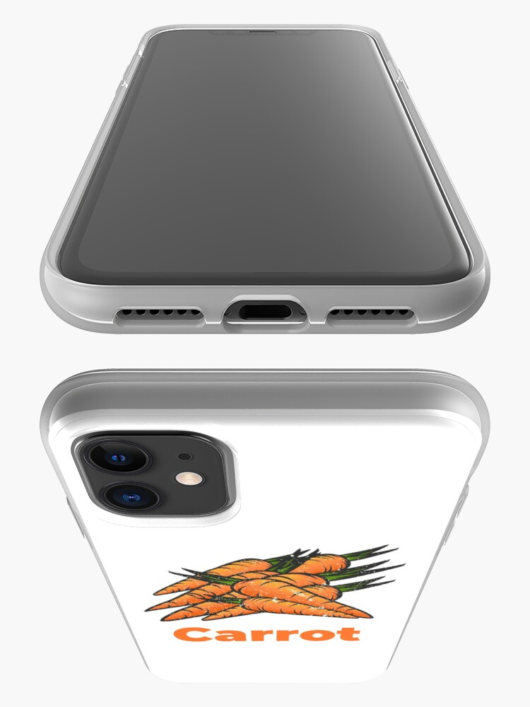 Alternate view of Carrot Vegetable with Name iPhone Case & Cover
