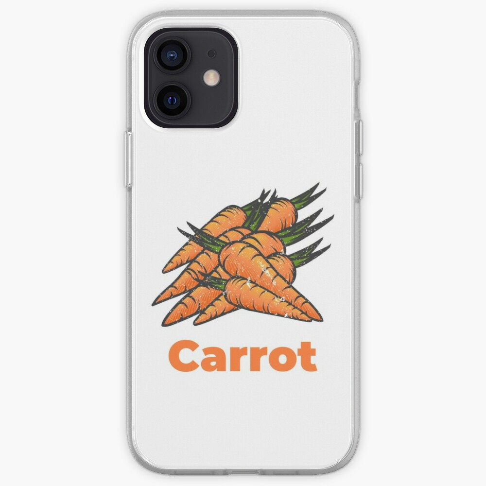 Carrot Vegetable with Name iPhone Case & Cover